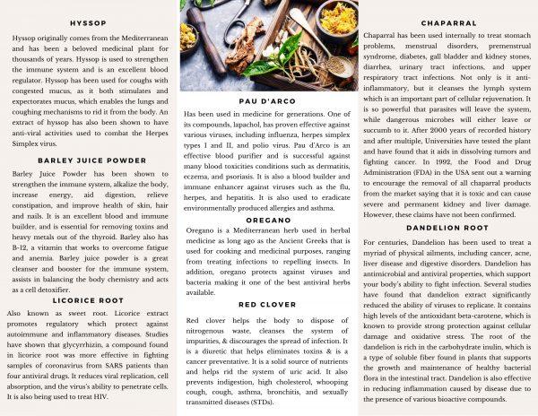 Anti-Viral Herbal Supplements - |100 |150 Vegan Capsules